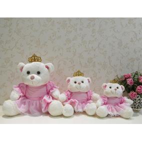 Ursas Princesas Pelúcia P/ Nicho P,m,g Decoração Quarto Bebê