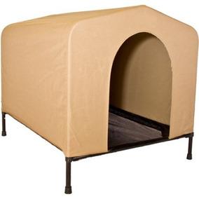 Portablepet Houndhouse Grande Caqui Elevada Casa De Perro