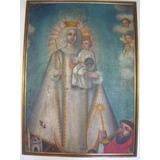 Cuadro Antiguo Virgen De La Merced, Con Niño Jesús