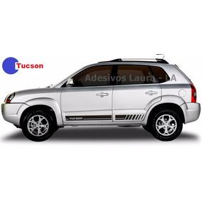Kit Adesivo Lateral Tucson Hyundai Acessórios Ts3 Peças La