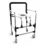 Cadeira De Banho Dobravel Com Rodas Deficientes E Idoso