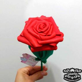 Kit 10 Rosas Vermelhas Eva Lembrancinha Dia Das Maes