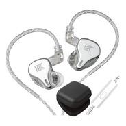Kz Dq6 Audifonos Con Micro + Estuche Full Silver Plateado