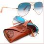 Óculos R Ayb An ,aviadorr Lente Azul Degrade M Ou G