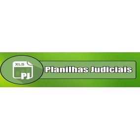 Pericia Contabil Kit Planilhas De Calculo Judiciais