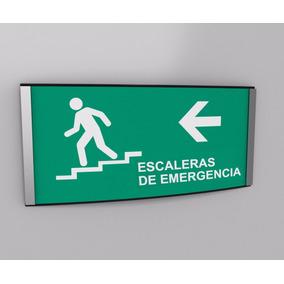 Escaleras De Emergancia Izquierda Protección Civil 20cmx10cm