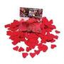 Confetti Para Globo Corazones Metalizados Color Rojo X 50grs