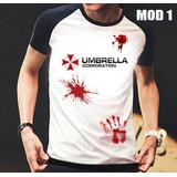 Camisa/camiseta Raglan Resident Evil Umbrella Corporation