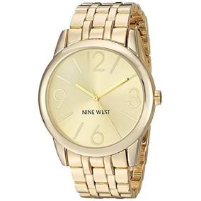 Nine West - Reloj Para Mujer De Pulsera, Dorado