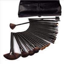 Kit De Pincel Para Maquiagem Profissional 32 Pcs Com Estojo