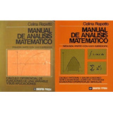 Manual De Analisis Matematico Celina Repetto Tomo 1 Y 2 Digi