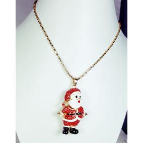 Collar Navideño De Santa Claus Esmaltado De Fantasia Y Envio