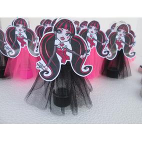 10 Tubetes Monster High Com Saia De Tule Luxo 13cm