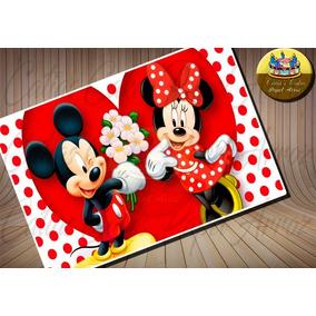 Mickey E Minnie Papel De Arroz Modelo 10