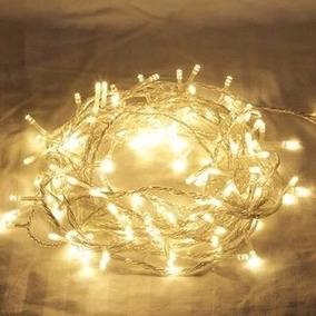 Pisca Guirlanda Elétrica Natal Led 100 Lamp 220v Luz Amarela