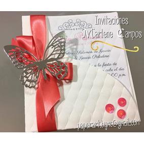 Invitaciones,15 Años, Bodas, Cumpleaños, Bautizo, Mariposa