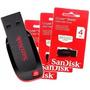 Pen Drive Sandisk Cruzer 4 Gb Original Pendrive 4gb Lacrado
