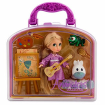 Disney Store Set Animators Mini Rapunzel Blanca Nieves 2015