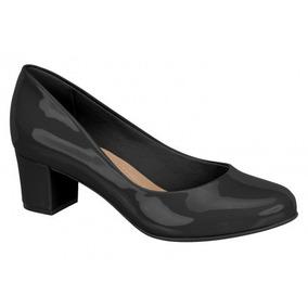Sapato Salto Grosso Beira Rio Conforto Verniz 4777 Cd386