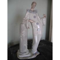 Pierrot Lladro Porcelana 1970/81 Tiene Dedos Rotos 40 Cm