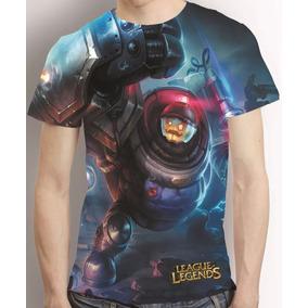 Camisa League Of Legends Riot Blitzcrank Estampa Total Lol