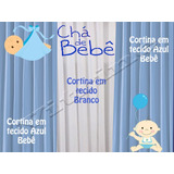 6 Cortina 1,5x2.2 Chá De Bebê Festa Infantil Buffet Foto