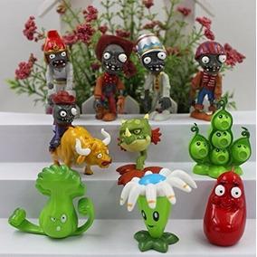 Plants Vs Zombies Papel Del Juego Figura Juguete 10 Figuras