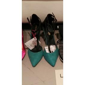 Zapatos Combinado Verde Negros 37 O 40 Ultimos Pares Liq
