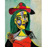 Cuadro Picasso -rostro Mujer- En Lienzo 78 X 100cm. Premium