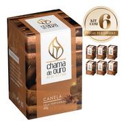 6 Velas Perfumadas Aromáticas Aroma Canela 60g