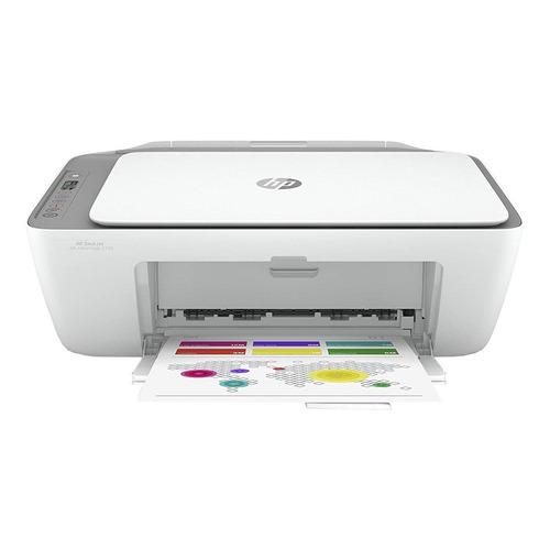 Impressora a cor multifuncional HP Deskjet Ink Advantage 2776 com wifi branca e cinza 100V/240V 7FR20A