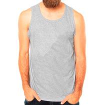 Kit 10 Camisa Cavada Camiseta Regata Lisa Abada Algodão