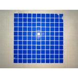 Pastilha Vidro Azul Bandeira 30 X 30 / 2,50 X 2,50