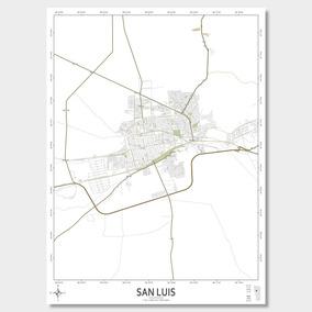 Mapa Ciudad De San Luis 61cmx45cm