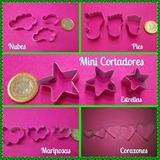 Cortadores Mini Estrellas, Alitas, Mariposas, Circulos Y Mas
