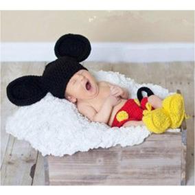 Conjunto Bebe Micky Mouse Crochet Bordado Baby