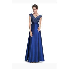 Vestido De Festa Madrinha Formatura Azul Royal Tam M