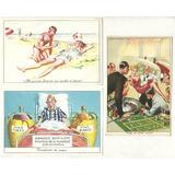 Lote X3 Tarjeta Postal Serie Comica Risa Dec 50 Cromocart