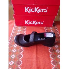 Zapatos Kickers Colegial Para Niñas 100% Originales Nuevo