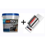 Cimento Queimado Pronto Platina Bautech 5kg + Desempenadeira