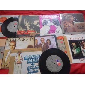 Vinil Elton John Lote Com 10 Compactos Único No Ml Compre Já