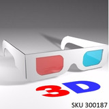 Pack 5 Gafas 3d Anaglificas Rojo/cian Proyector Juego Video