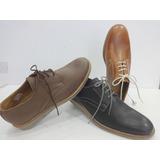 Zapatos De Vestir Sport 100%cuero Roble 950 Neg.marron Cuoio