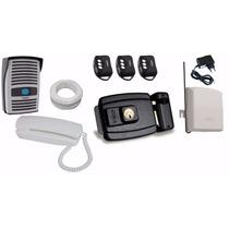 Kit Interfone Ecp + Fechadura Elétrica Com Controle Remoto