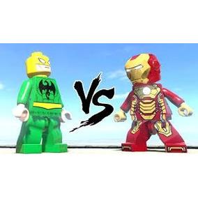 Punho De Ferro Iron Fist + Homem De Ferro Compativel Lego