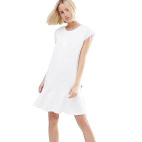adidas Originals Vestido Mujer Originals White Trefoil Dress