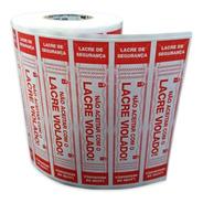 Lacre Adesivo Pizza Marmitex Alimentos 1.000 95x20mm Verm