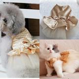 Vestido Para Gato / Perrita / Mascota / Gold S