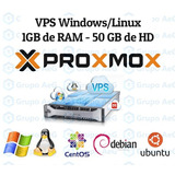 Servidor Vps Xeon 3.2ghz 1gb Ram 50gb Hdd Windows Ou Linux