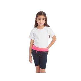 Short Girls Attitude Azul Pr-4720492